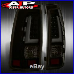 Dark Smoked Tube LED Tail Lights Lamps Left+Right For 1999-2006 Silverado Sierra