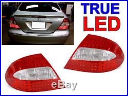 Depo 03-09 Mercedes W209 Clk Amg Red/clear Led Tail Lights 320/350/430/55/63