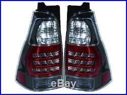 Depo Toyota 4 Runner 03 09 Jdm Black Style Bezel Led Rear Tail Light Lamp Pair