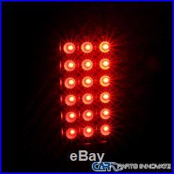 Dodge 02-05 Ram 1500 2500 3500 Pickup Black Headlights+LED Tail Brake Lamps Pair