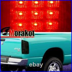 Dodge Ram 1500 07-08 / Ram 2500&3500 07-09 Rear Brake LED Tail Lights All Smoke
