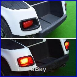 EZGO TXT Golf Cart Headlight & LED Tail Light Kit Deluxe Street Package 1996-13