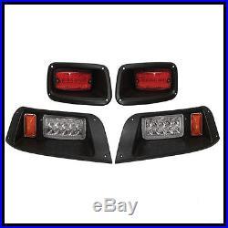 EZGO TXT Golf Cart LED Headlight & Tail Light Kit 1996-2013 Gas and Electric