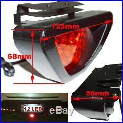 F1 style 12 LED Rear Tail Brake Stop Light 3rd Red Strobe safety Fog Lamp Bumper