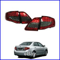 FIT 2008-2010 Toyota Coralla Altis Led Rear Tail light Lamps Red Black Color