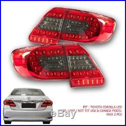 FIT 2011-2013 Toyota Corolla Altis Led Rear Tail light Lamps Red Black Color