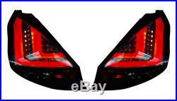 FORD FIESTA Mk7 Facelift (2013-) SMOKED LED LIGHT BAR REAR TAIL LIGHTS