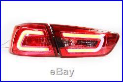 FOR Mitsubishi Evolution 10 EVO X LANCER EX 2008-15 LED REAR TAIL LIGHT RED LAMP