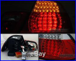 FULL LED2000 2001 2002 2003 BMW E46 325Ci/330Ci/M3 Coupe Red Clear Tail Lights