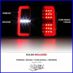 FULL LED For 15-21 Chevy Colorado Pickup Black Neon Tube Tail Light Lamp Pair