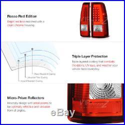 FiBeR OpTiC LED Neon Rear Tail Lights Brake Lamps 99-06 Sierra 99-02 Silverado