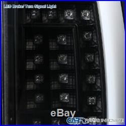 Fit 00-06 Chevy Suburban Tahoe GMC Yukon Black LED Bar Tail Lights Brake Lamps