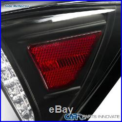 Fit 06-08 IS250 IS350 Black Full LED Tail Lights+Trunk Brake Lamps Left+Right