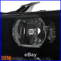 Fit 07-13 Chevy Silverado 1500 2500 3500 Black Smoked Headlights+LED Tail Lights
