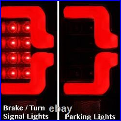 Fit 10-18 Dodge Ram 1500/2500/3500 Tube White Streak Led Tail Light Black/Clear