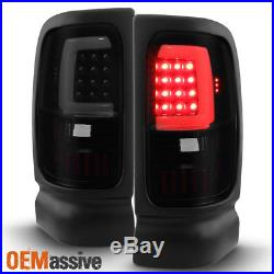 Fit 1994-2001 Dodge Ram 1500 2500 3500 Black Smoked LED Tail Lights Replacement