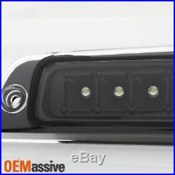 Fit 1994-2001 Dodge Ram 1500 2500 3500 Dark Red Tail Lights+LED 3rd Brake Lamp