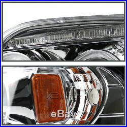Fit 1997-2002 Expedition Clear LED Halo Projector Headlights+Tail Brake Lamps