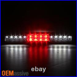 Fit 1999-2002 Chevy Silverado GMC Sierra LED Red Clear Tail Lights+Brake Light