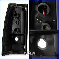 Fit 1999-2002 Chevy Siverado 1999-2006 GMC Sierra Black LED Tube Tail Lights