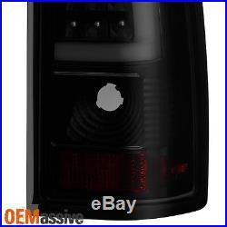 Fit 1999-2002 Chevy Siverado 99-06 GMC Sierra Black Smoked LED Tube Tail Lights