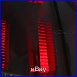 Fit 1999-2004 Ford Mustang Red/Smoke Sequential LED Neon Tube Tail Brake Lamps