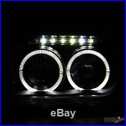 Fit 1999-2005 Jetta Bora MK4 Black Halo Projector Headlights LED Fog+Tail Lamps