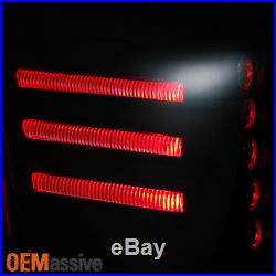 Fit 2002-2006 Chevy Avalanche 1500 2500 L + R Black Smoked LED Tail Lights