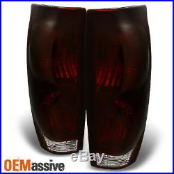 Fit 2002-2006 Chevy Avalanche 1500 2500 Pickup Dark Red Tail lights Replacement