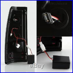 Fit 2003-06 Silverado 1500 2500 HD 2004-2006 3500 Black LED Tube Tail Lights L+R