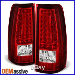 Fit 2003-2006 Silverado Sierra 1500 2500 3500 Red Clear LED Tail Lights