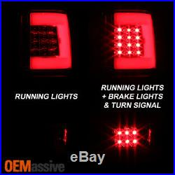 Fit 2004 2005 2006 2007 2008 Ford F150 LOBO LED Tube Red Clear Tail Lights Lamps