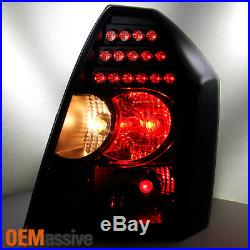 Fit 2005-2007 Chrysler 300 Replacement LH + RH Black Smoke LED Tail Lights Lamps