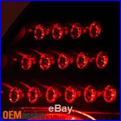 Fit 2005-2010 Chrysler 300 Halogen Black Headlights+Black Smoked LED Tail Lights