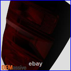 Fit 2014-2018 Chevy Silverado Pickup Dark Red L+R Tail Lights Pair Replacement