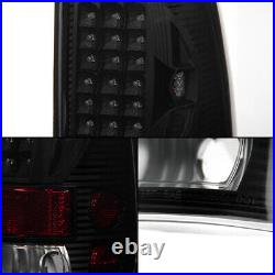 Fit BLACK SMOKED 97-03 Ford F150 F250 Pickup LED Tail Lights Lamps Left + Right