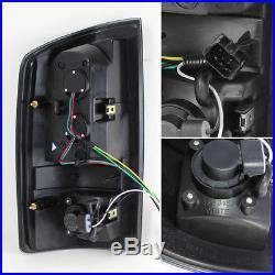 Fit Black 2002-2006 Dodge Ram LED Tail Brake Lights Lamps L+R 2003 2004 2005