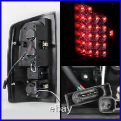 Fit Black 2007-2008 Ram 1500 07-09 2500/3500 LED Tail Brake Lights Lamps L+R