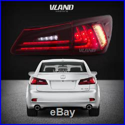 Fit For Lexus IS250/IS350 2006-2012 Tail lights LED Red Lens Rear Lamp Assembly
