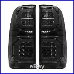 Fit For Toyota Hilux SR SR5 Vigo KUN26R 2004-2015 Smoked LED Tail Lights Lamps