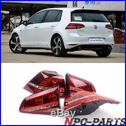 Fit For VW Golf GTI R GTD MK7 VII Dark Red Taillights Rear Lamp Tail Lights LED