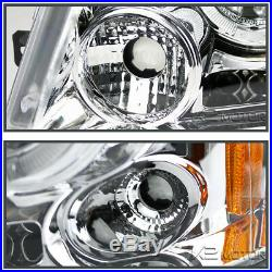 Fit Ford 2004-2008 F150 Chrome Halo Projector LED Headlights+Tail Lamp