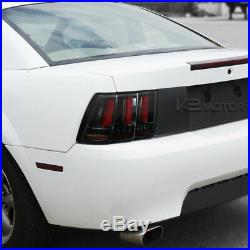 Fit Jet Black 1999-2004 Ford Mustang Sequential LED Tail Lights Brake Lamps