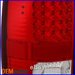 Fits 00-06 Chevy Suburban 1500 2500 Tahoe GMC Yukon LED Red Clear Tail Lights