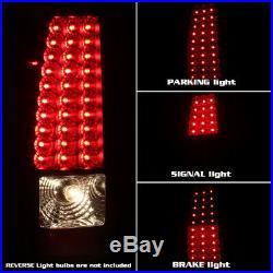 Fits 03-06 Silverado Sierra Pickup Truck Black LED Tail Lights Lamps Left+Right