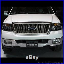 Fits 04-08 Ford F150 Dual Halo LED Projector Headlights + LED Tail Lights