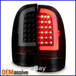 Fits 05-15 Toyota Tacoma Pickup LED Tube Black Smoked Tail Lights Brake Lamps