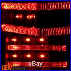 Fits 06-10 Hummer H3 Black Full LED Tail Lights +LED Light Tube Lamps Left+Right