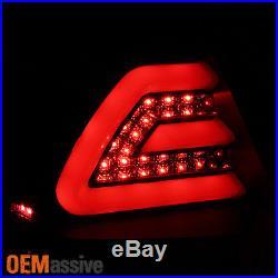Fits 06-13 Chevy Impala Black Bezel LED Tail Lights Rear Brake Lamps Left+Right