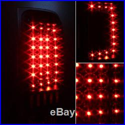 Fits 07-13 Silverado 1500 2500 3500 Pickup Black LED Tail Lights Brake Lamps